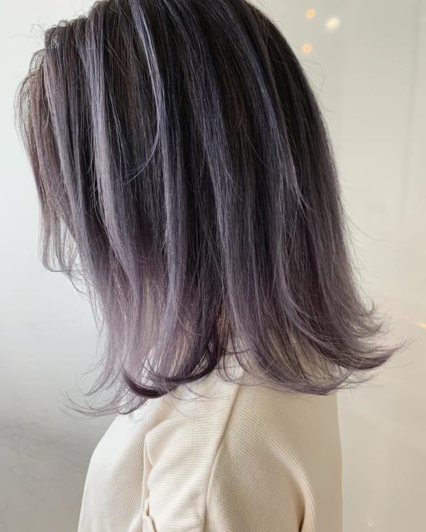 黒髪 グラデーション23