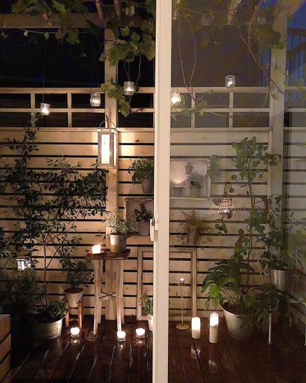 夜のお庭・ベランダを楽しむためにはライトアップが必須