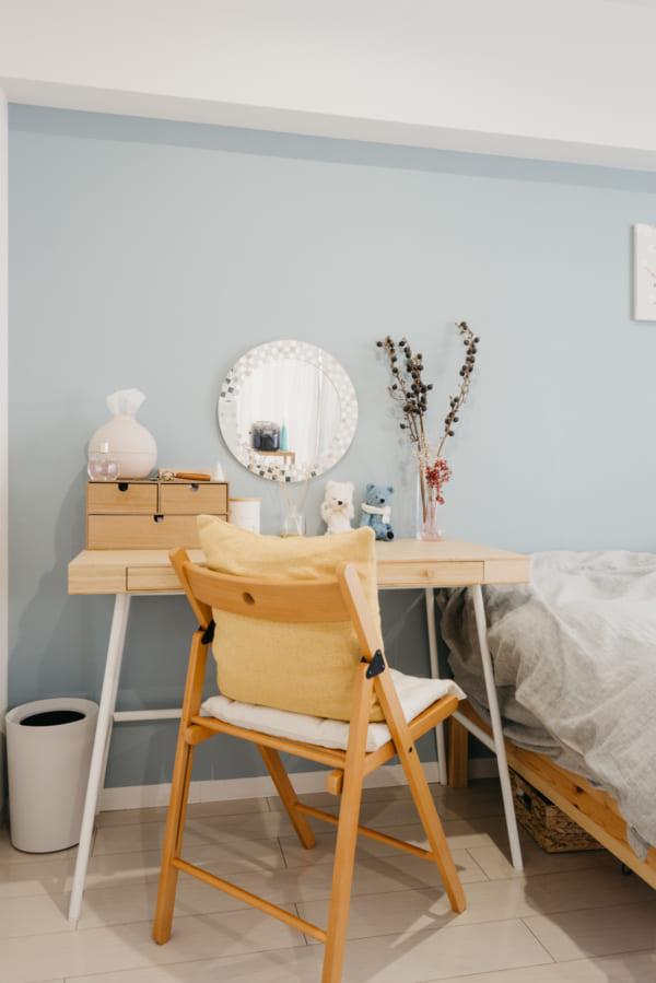 印象的なブルーの壁5