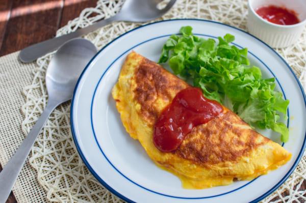 玉ねぎとチーズの半熟フワトロオムレツ 作り方8