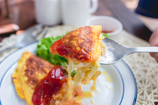 玉ねぎとチーズの半熟フワトロオムレツ 作り方9