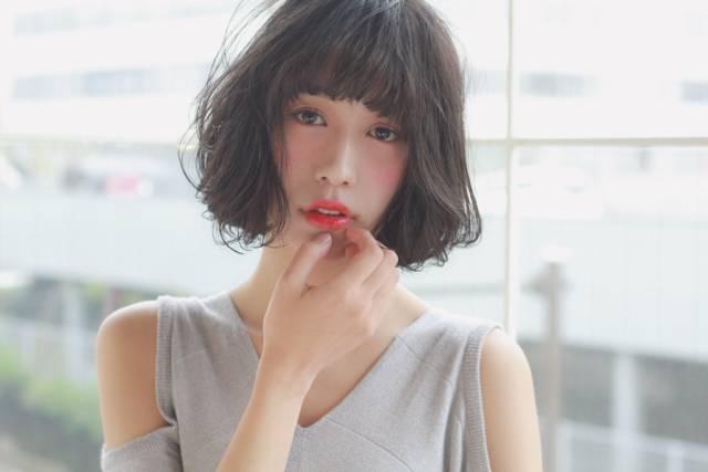 黒髪ショートボブ(パーマ)6