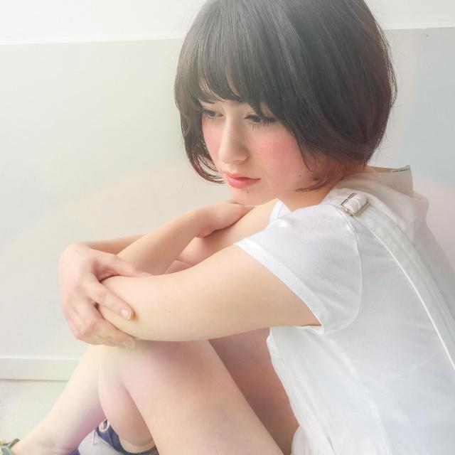黒髪ショートボブ(大人アレンジ)12