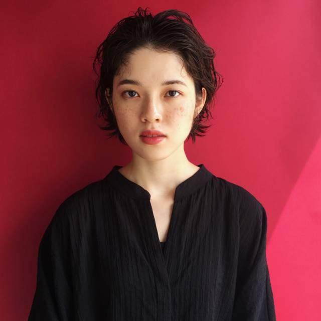 黒髪ショートボブ(大人アレンジ)15