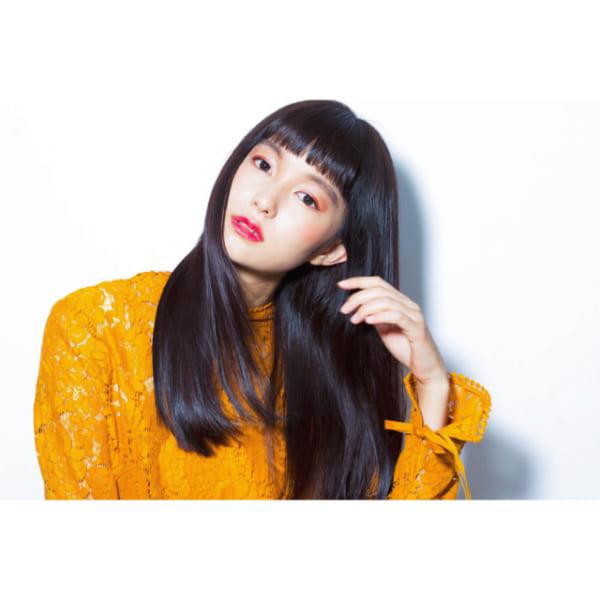 オン眉×黒髪ロング4