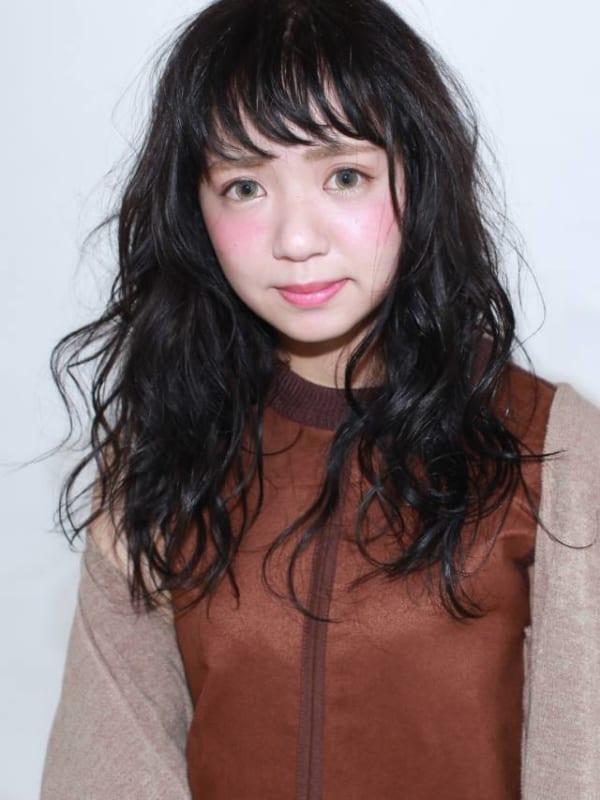 オン眉×黒髪ロング7