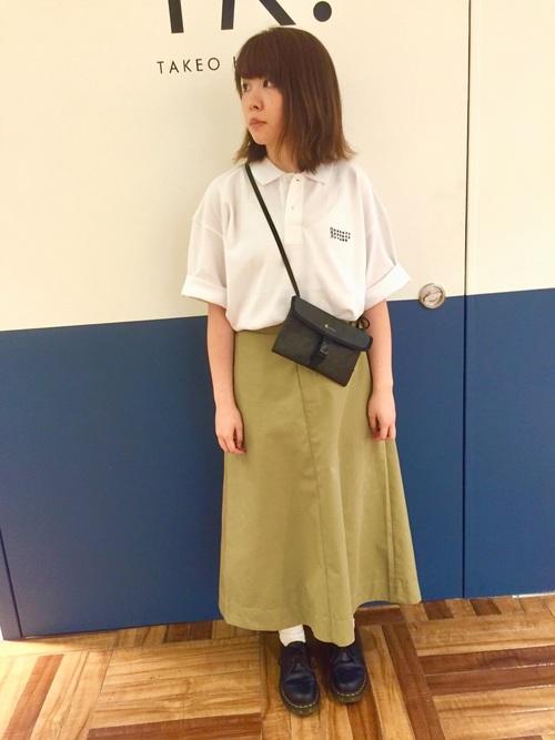 [tk.TAKEO KIKUCHI] オーバーサイズポロシャツ5