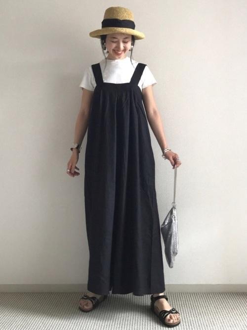 ユニクロTシャツ×スカートコーデ