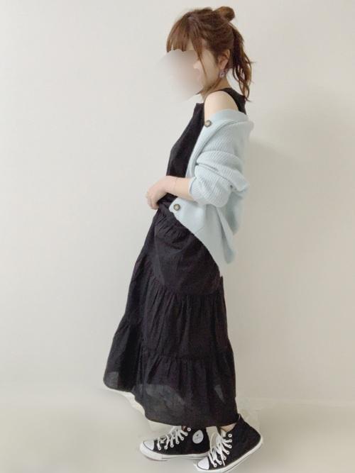 GUのスカートを使ったシンプルコーデ2