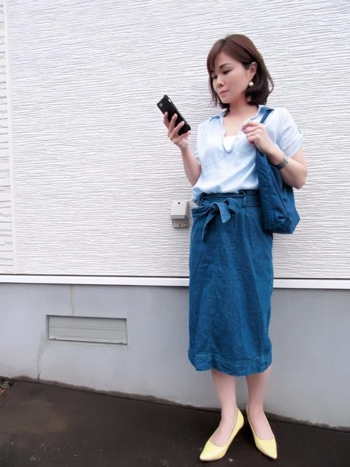 【ユニクロ】デニムタイトスカートコーデ5