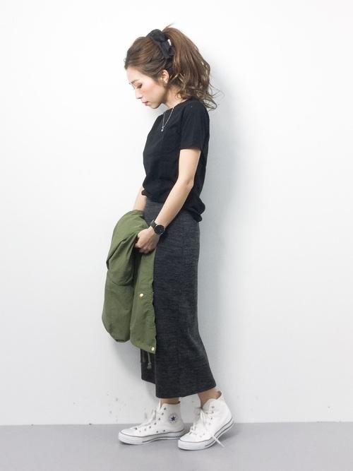 [reca] 全7色ウエストゴムリブスウェットスカート4
