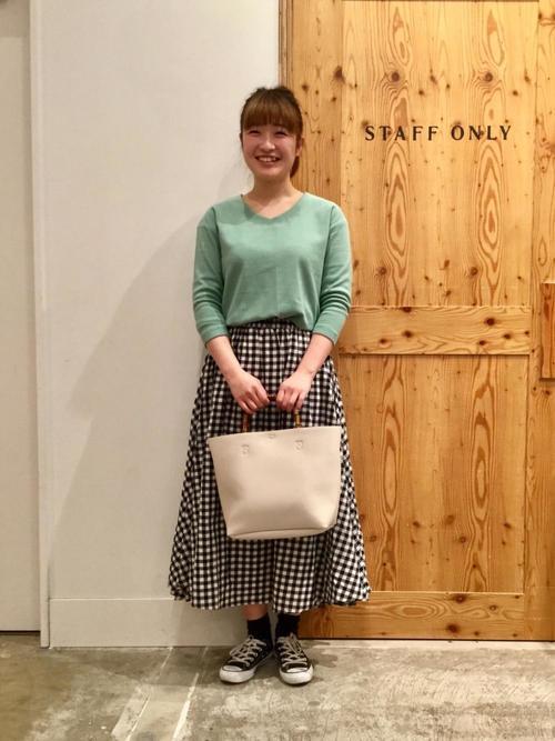 4[coen] 【19SS新作・Market】チェックマキシスカート