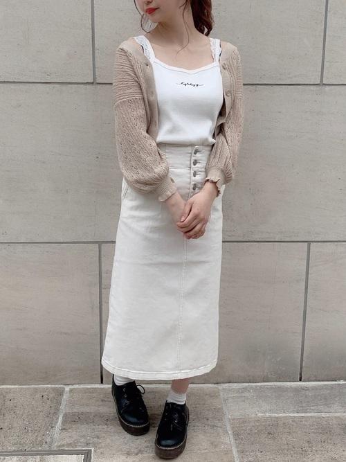 ストレッチデニムナロースカート