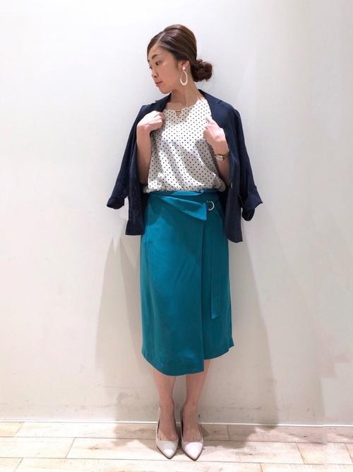 [YECCA VECCA] ラップタイトスカート ●