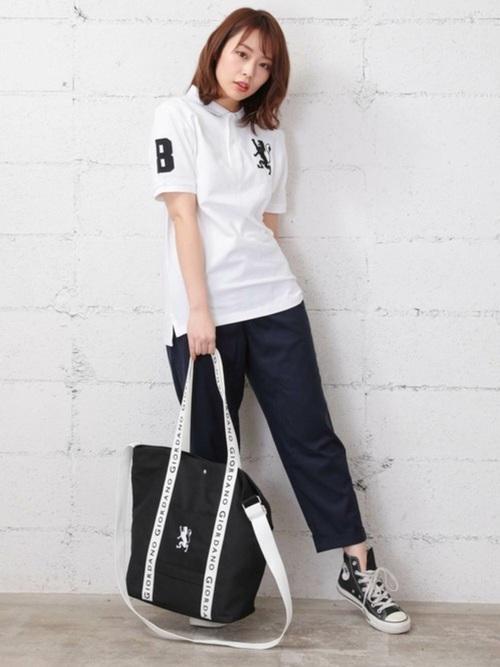 [GIORDANO] ライクラ素材【ストレッチ抜群】3Dライオン刺繍ポロシャツ2