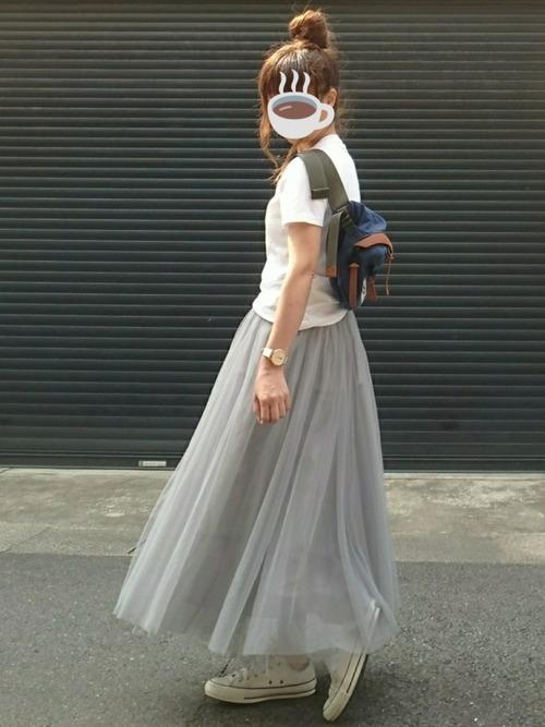 [YARD PLUS] 【ZOZOTOWN限定!】AUNT MARIE'S チュールロングスカート