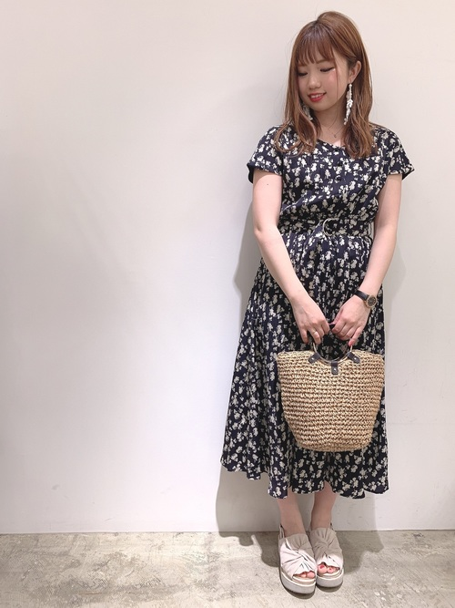 17[natural couture] 前後2WAYカシュクールプリーツワンピース