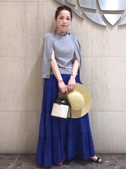 [BEAMS WOMEN] ne Quittez pas / コットンボイル ロングスカート