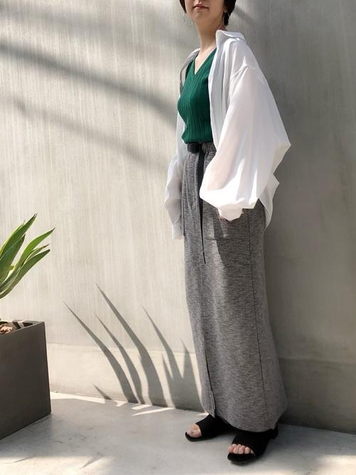 [nano・universe] 【MIHO NOJIRI × nano・universe】別注COOLMAXロングタイトスカート