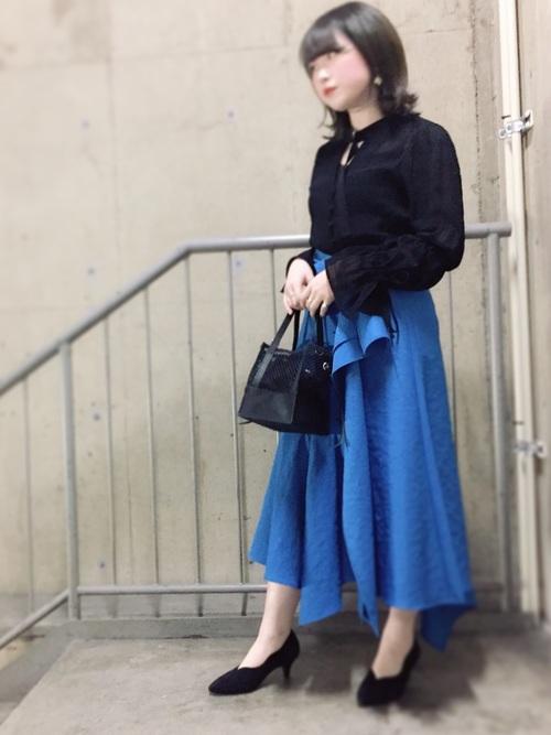 [UNITED TOKYO] リニーアシンメトリースカート2