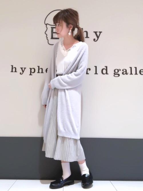 [E hyphen world gallery] ・ヘリンボンプリーツスカート