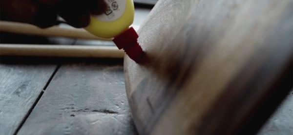 カッティングボード タブレット・スタンド DIY4