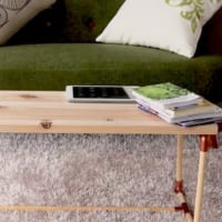 杉板で作るナチュラルな雰囲気のテーブルDIY