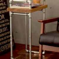 水道管パイプで魅せるスタイリッシュなサイドテーブルDIY