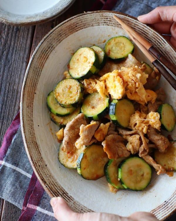 ふんわり卵と豚肉のピリ辛炒め