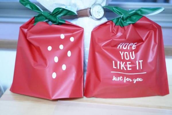 イチゴのラッピングバッグ(キャンドゥ)