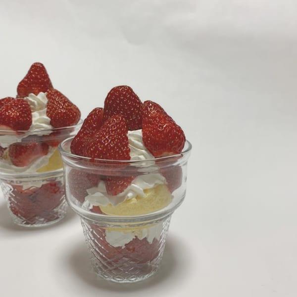 【キャンドゥ】ソフトクリームコーン型グラス