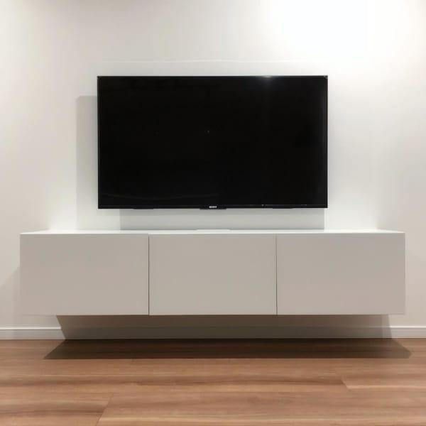 テレビボードをおしゃれに取り入れたインテリア15