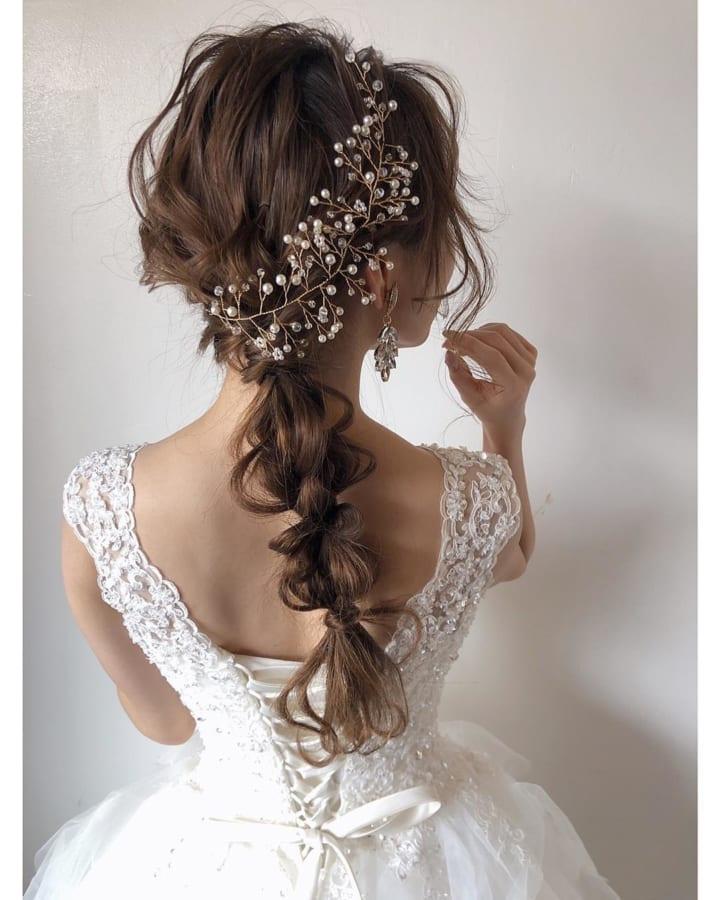白ドレスにぴったり♡サイド三つ編み