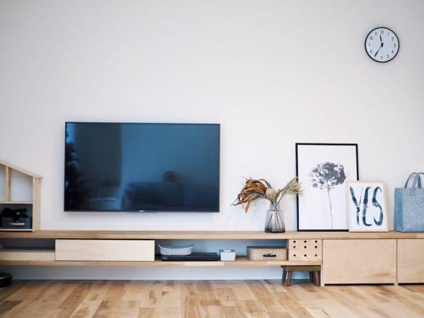 テレビボードをおしゃれに取り入れたインテリア17