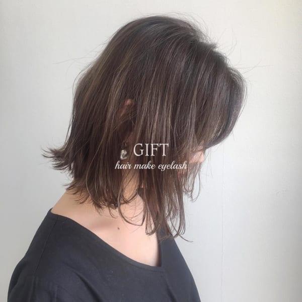 黒髪 グラデーション14