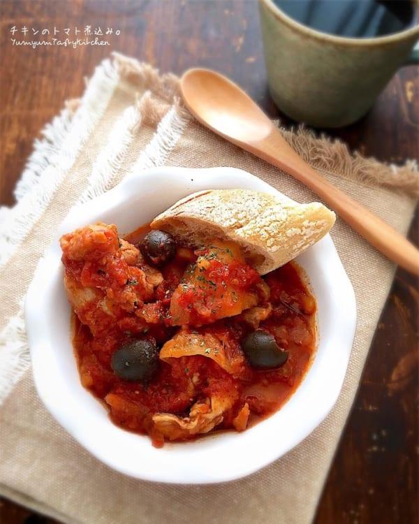 定番イタリアンのチキンのトマト煮込み