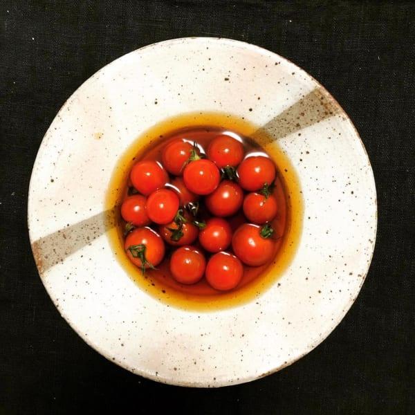 プチトマトの鰹だし漬け