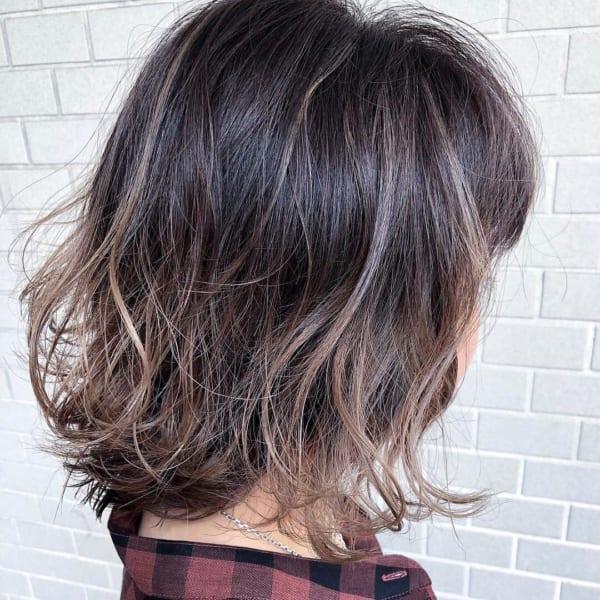黒髪 グラデーション16