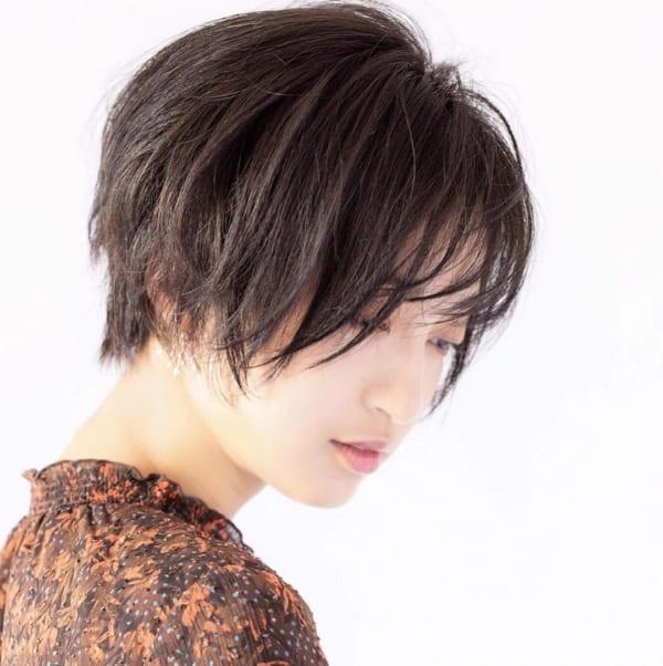 黒髪ショートボブ(丸顔さん向け)3