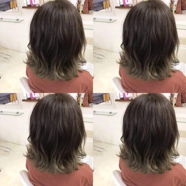 黒髪 グラデーション17