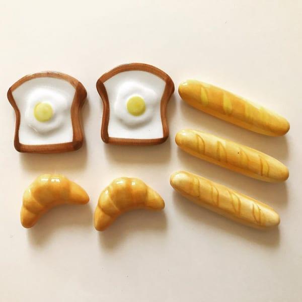 美味しそうなパンの箸置き(ダイソー)