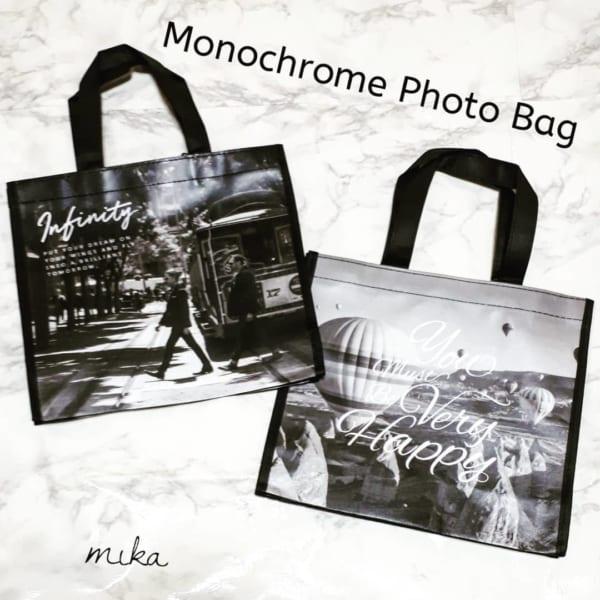 セリア モノトーンのコーティングバッグ