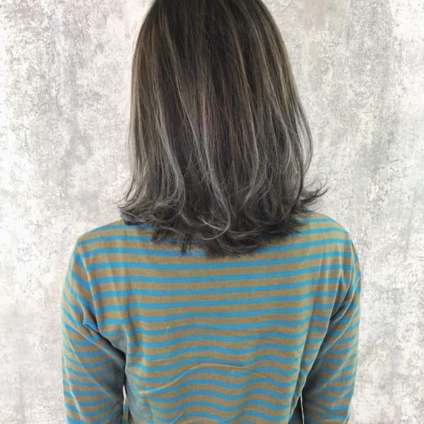 黒髪 グラデーション19