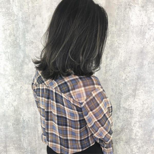 黒髪 グラデーション20