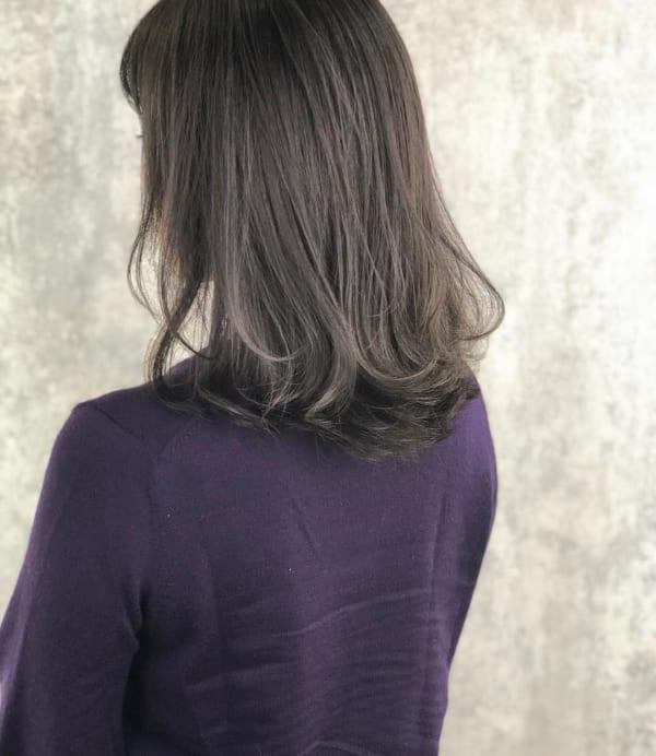 黒髪 グラデーション21