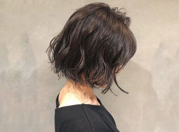 黒髪ショートボブ(パーマ)3