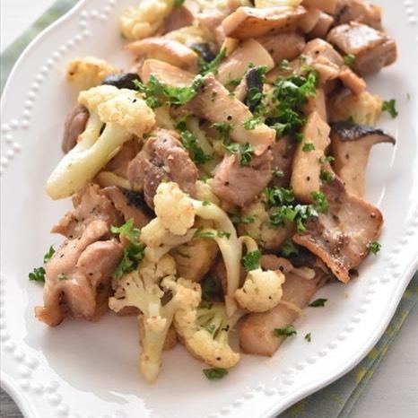 鶏モモ肉のカリフラワー炒め