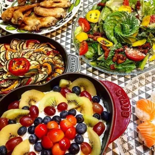 大皿料理のパーティーメニュー
