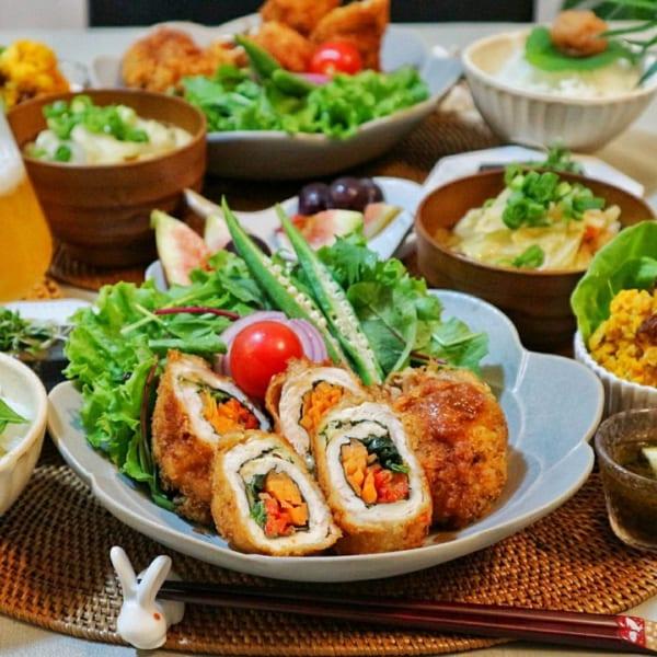 野菜のささみチーズフライ