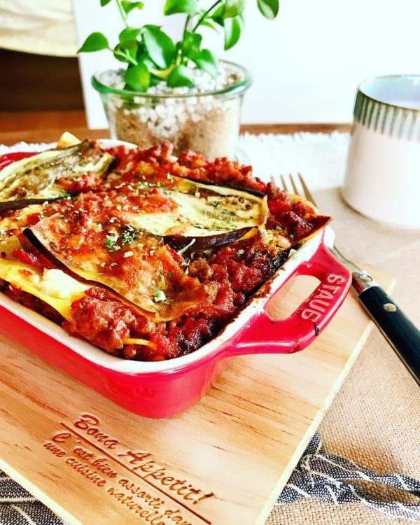 イタリアの家庭料理!茄子ミートのラザニア